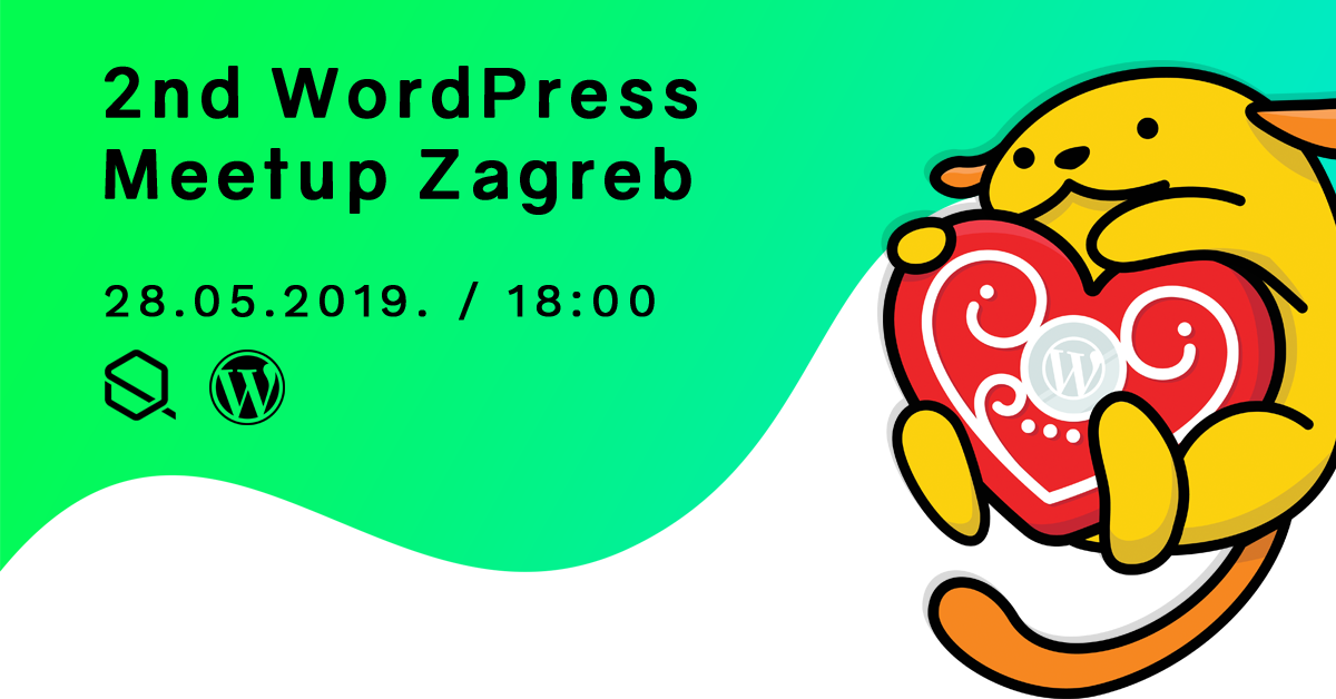 Banner for 2nd Zagreb WordPress Meetup
